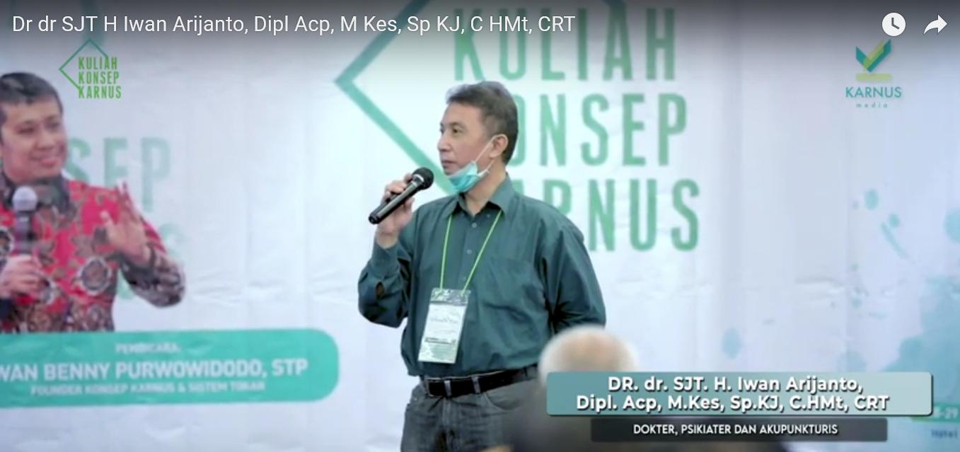 Testimoni Dr. dr IWAN ARIJANTO, Sp.KJ., M.Kes., Dipl.Acp., CHMt yang merasa puas dengan Konsep Karnus yang sukses menurunkan gula darahnya